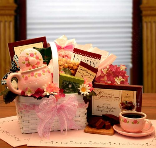 A Tea Lovers Little Rose Tea Pot Gift Set - Great Mother's Day Gift Idea