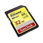 SanDisk Extreme Memory Card Up to 90MB/s Read 5 Continuous shot-to-shot performance with a data write speed of up to 40 MB/s Fast file transfers with maximum data read speed of up to 90 MB/s Class 10, UHS Speed Class 3 to easily record Full HD (1080p) and 4K Ultra HD (3840 x 2160p) video
