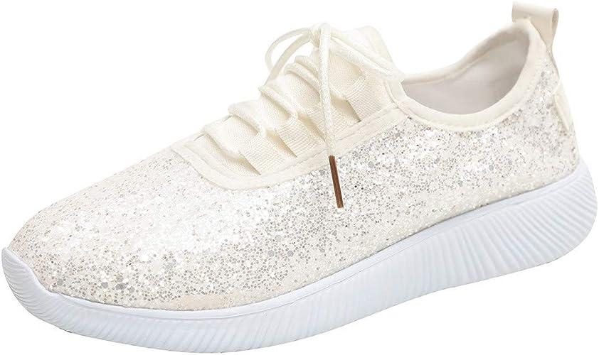 Femmes Lacets Sports Plateforme Bout Rond Athlétique Baskets Chaussures Baskets