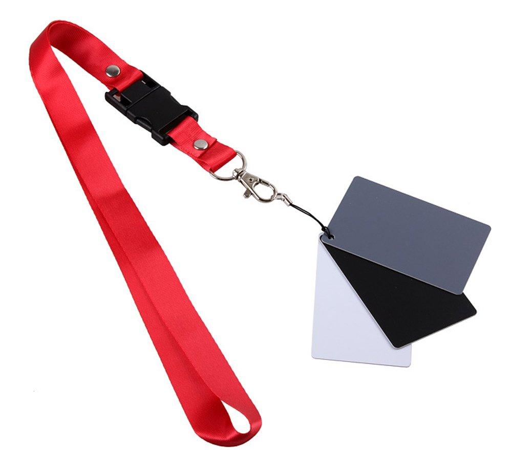 Kingwon fotografia di set bianco, nero & grigio neutro di bilanciamento del bianco camera video Checker color Calibration Charts 18% esposizione ,3 pezzi, tascabile, 5,4 x 8,5 cm 3pezzi 4x 8 5cm Kingwon Tech