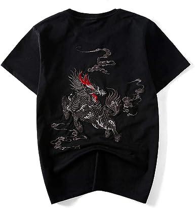 LYH Camiseta De Estilo Chino para Hombre, Camiseta Japonesa Kimono De Harajuku, Streetwear, Blusa Suelta De Algodón para Mujer, Traje Oriental A Juego: Amazon.es: Ropa y accesorios