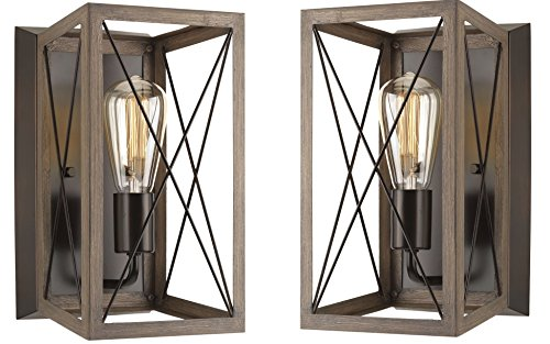 Progress Lighting P710012 020 Briarwood Antique Bronze One Light Wall Sconce Architectural Bronze Architectural Bronze 2 Pack
