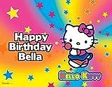 Hello Kitty Sanrio Rainbow Image Photo Cake Topper Sheet Personalized Custom Customized Birthday Party - 1/4 Sheet - 77618