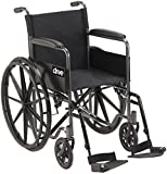 Best Deal on Folding Chairs Drive Medical Silver Sport 1 Wheelchair with Full Arms and Swing away Removable Footrest