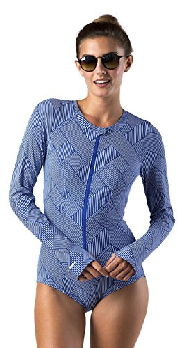 Mott 50 Women's Mila Dress, Endless Blue Grid, Medium by Mott 50