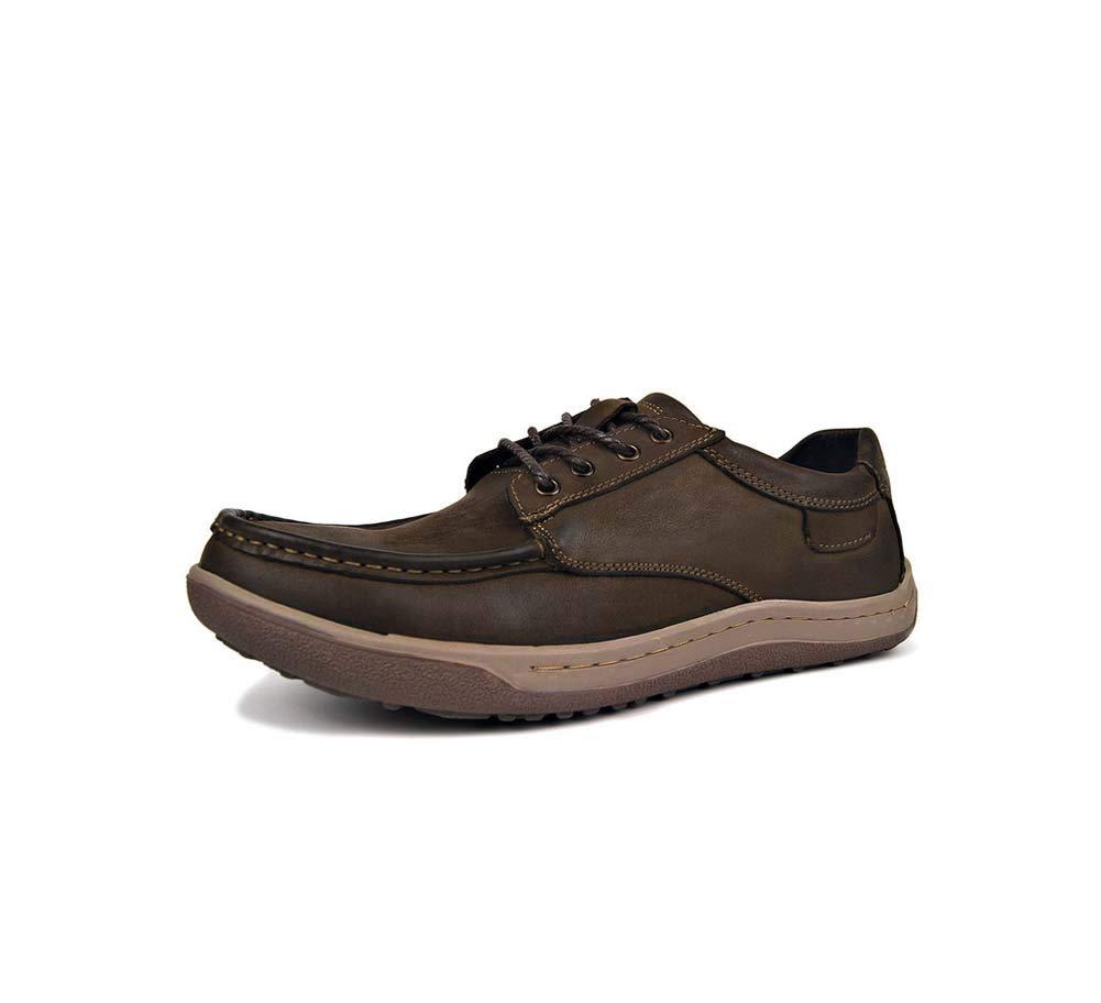 HYLFF Männer Leder Leder Leder Mocassins Loafer Round Toe Staple Oxford Anti-Rutsch Ankle Stiefel,braun,42EU 68323e
