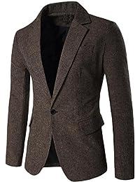 Fulok Men's Casual Dress Suit Slim Fit Stylish Blazer Sport Coats Jackets