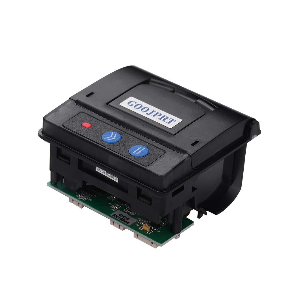 Aibecy GOOJPRT QR203 Printer Module 58mm Low Noise Direct Thermal Printing Mini Panel Mobile Receipt Printer Serial Interface RS-232C TTL