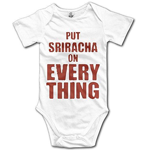 SmallHan Put Sriracha On Everything Unisex Particular Newborn Baby Romper Baby Boy Play Suit 12 Months White