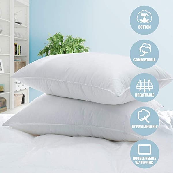 White Classic Bed Pillows for Sleeping