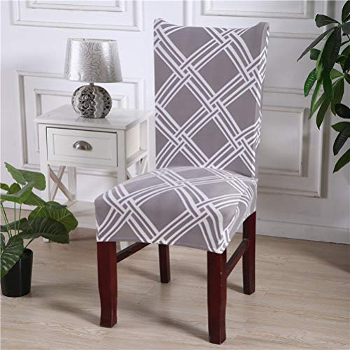 - STOCO Fashion Designs Chair Cover Geometric Flower Printed Stretch Seat Dining Room Kitchen Hotel Elastic Slipcovers