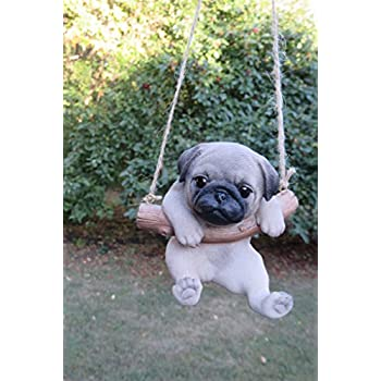 Amazoncom Pug Dog In A Swing Home Kitchen