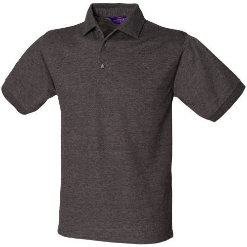 Henbury Herren Polo-Shirt, Kurzarm (2XL) (Rot)