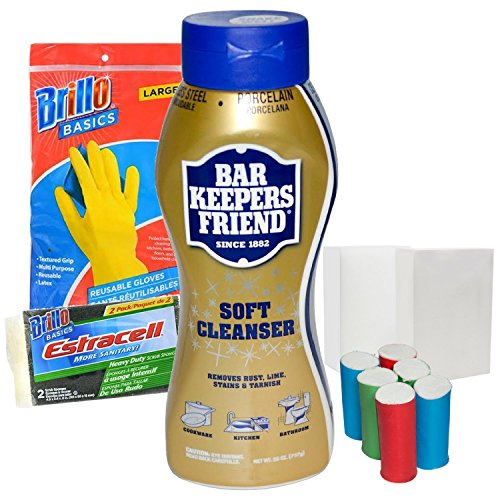 Bartender Range - Bar Keepers Friend Cleaner (26 oz) Bundle - Rust Remover and Cleanser for Metal, Stainless Steel, Copper, Pots, Pans, Sink and Stove Top