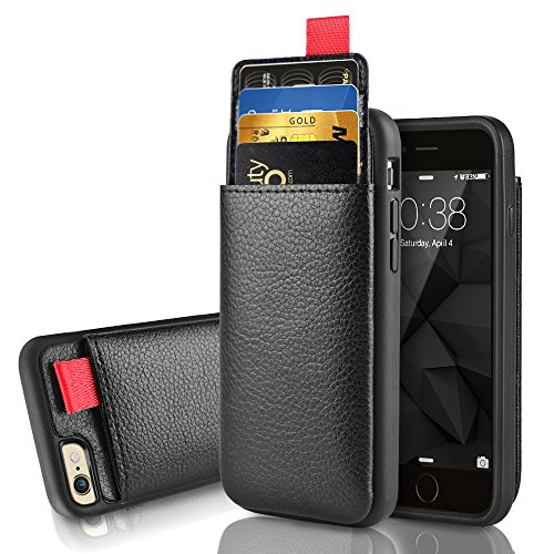 iPhone 6 Plus / 6s Plus Wallet Case, LAMEEKU Shockproof Leather case with Credit Card Holder Pockets ID Card Slot Holder,Protective Card Cover for Apple iPhone 6 Plus / 6S Plus 5.5inch Black