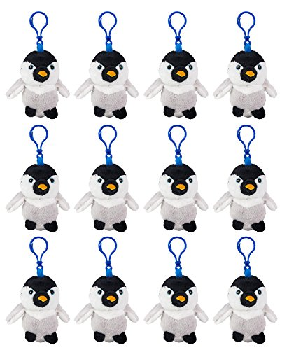 (Wildlife Tree Baby Penguin Plush 3.5 Inch Stuffed Animal Backpack Clip Toy Keychain Wildlife Hanger Party Favor Pack of)
