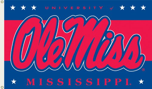 NCAA Mississippi Rebels 3-by-5 Foot Flag with Grommets
