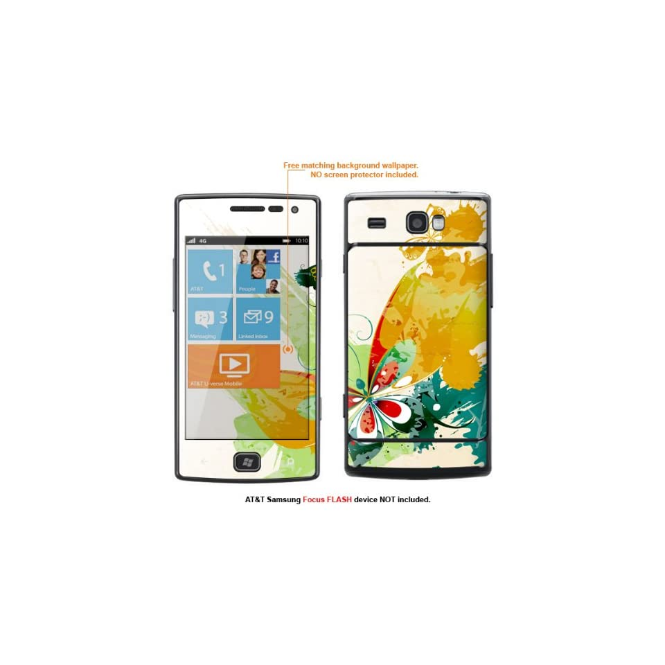 Protective Decal Skin Sticker for AT&T Samsung Focus Flash (Only fit Focus Flash Model) case cover FocusFLASH 110