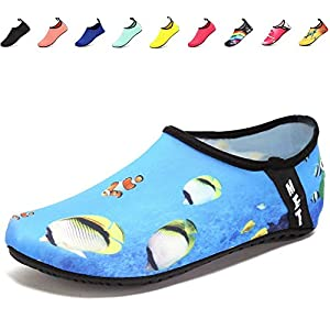 Fidus Water Shoes Women Men and Kids Lightweight Quick Drying Barefoot Aqua Socks Beach Swimming Pool Yoga Shoes-C5-sea-32-33