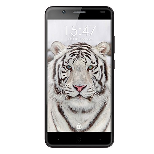 Haehne Ulefone Tiger - 5,5 HD 4G Smartphone, 2GB + 16GB Android 6.0 Quad Core, 8.0MP + 5.0MP Dual Kamera, Dual SIM Smart Wake Fingerabdruck Entriegeln OTG Handy, Schwarz