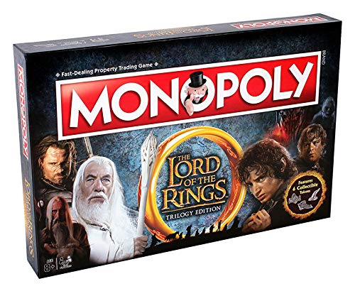 Winning Moves - Board Game - Monopoly - Lord of The Rings Collectors Edition Italian Version, 02394