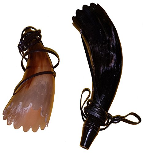 Pair of Traditionally Buffalo Horn Bugle Horn, Handcrafted Trumpet Hunting Horn, War Horn