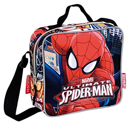 Spiderman–Ich Lunchbox Quadratisch, Tasche, Farbe: rot und blau (Montichelvo 29977)