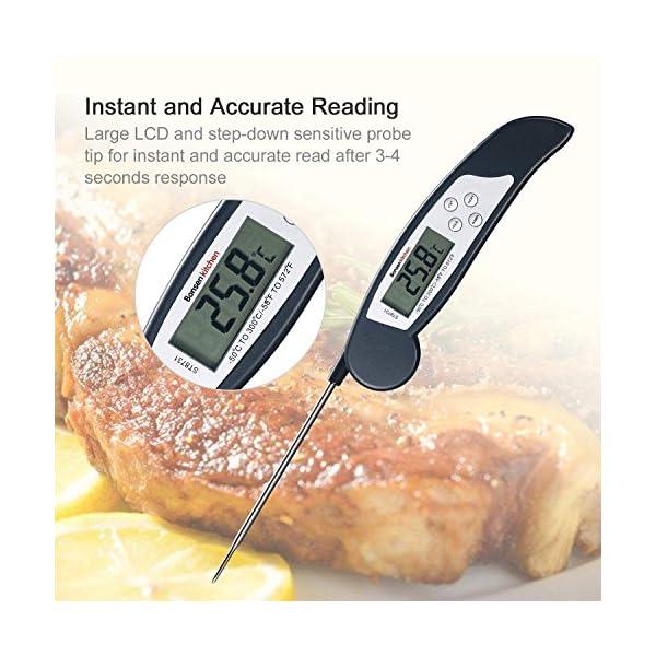 Bonsenkitchen Termometro Cucina Digitale, Termometro da Carne a Lettura istantanea per grigliate, Barbecue e Bevande… 2