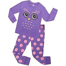 Girls Pajamas Giraffe Cotton Children Clothes Long Sleeve Pajamas Size 2Y-7Y