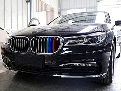 for BMW 2016-2018 7 Series,9 Beams 750Li with M-Performance Black Kidney Grill Jackey Awesome Exact Fit //////M-Colored Grille Insert Trims for 2016-2018 BMW G11 G12 7 Series 740i 750i