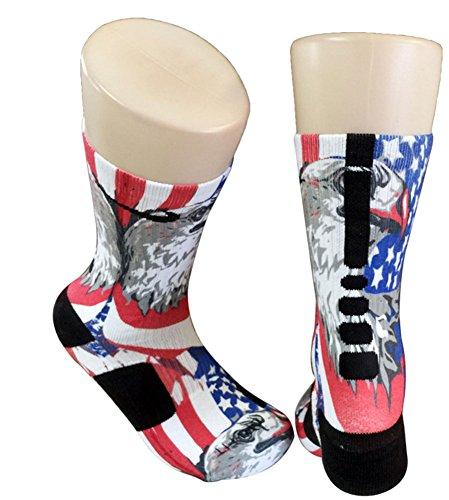 Custom Nike Elite American Eagle Socks X-Large