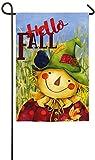 Evergreen Hello Fall Scarecrow Suede Garden Flag, 12.5 x 18 inches