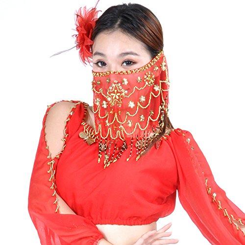 Couleurs Red NA Voile du YI WU Diffrentes Tribal Femmes Ventre Danse SHENG Indiennes v1q1f7d