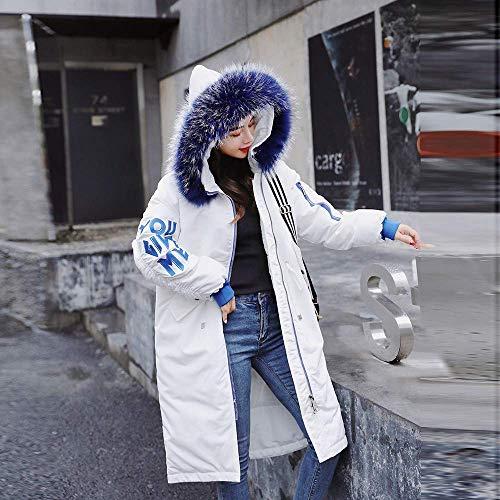 Dimensione Cappotto In colore Womens Stampa Imbottito Cotone Bianca Xl Cappuccio Piumino Winter Letter Warm Slim Fuxitoggo Capispalla Bianca 4P0qZwq