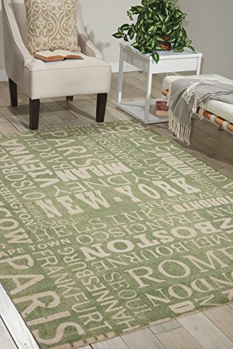 Nourison Sun & Shade  Wasabi Rectangle Area Rug, 7-Feet 9-Inches by 10-Feet 10-Inches (7'9