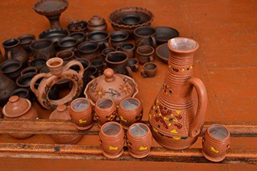 ceramic pitcher shot glasses