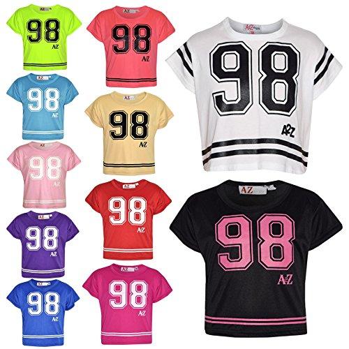 A2Z 4 Kids� Girls Top Kids 98 Print Stylish Fashion T Shirt Crop Top 7-13 Year