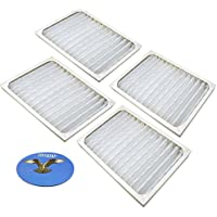 HQRP 4-pack Air Purifier Filter for Hunter 30928 Replacement fits HEPAtech Air Purifiers + HQRP Coaster