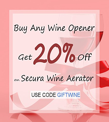 Secura SWO-3N Stainless Steel Electric Wine Opener Corkscrew Bottle Opener with Foil Cutter (Stainless Steel) by Secura (Image #6)