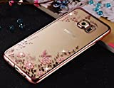 LOXXO New Edition Case For Samsung Galaxy A9 Pro Brings This Cover For Fashion Lover Girls Buy Samsung A9 Pro- Shockproof Silicone Soft TPU Transparent Auora Flower Case with Sparkle for Samsung A9 Pro Back Cover Rose Gold