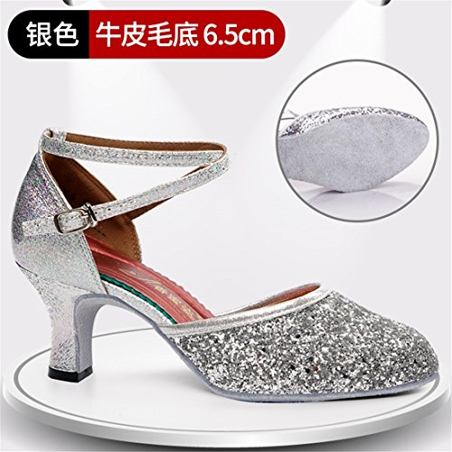 Dance 6 Wxmddn 5cm Interior Heel High Latin Schuhe Silver Schuhe Tanzschuhe mit qqxpEvgw