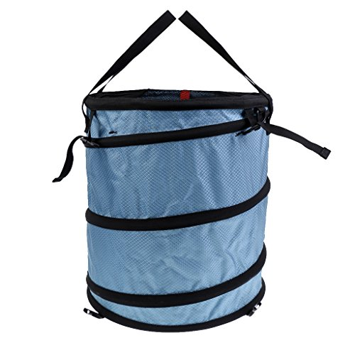 Dovewill Folding Rock Climbing Tree Surgeon Caving Rescue Rope Cord Bucket Gear Equipment Storage Deploy Bag with 36KN 13mm Rope Pulley