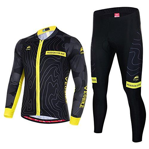 81f4c45aa7 Asvert Ropa de Bicicleta Hombre MTB Traje de Ciclismo Mangas Largas  Maillot+Pantalones Equipación de Ciclista, Talla M-3XL: Amazon.es: Deportes  y aire libre