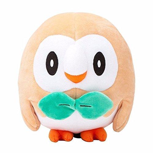 [Cute 17cm Pokemon Center Rowlet Plush Toy Soft Stuffed Animal Doll Gift] (Bowser Costume For Dog)