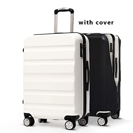 Home, Furniture & DIY Black Cabin Hand Shell Luggage Suitcase 4 Wheeled TSA Lock Travel Case Trolley Suitcases