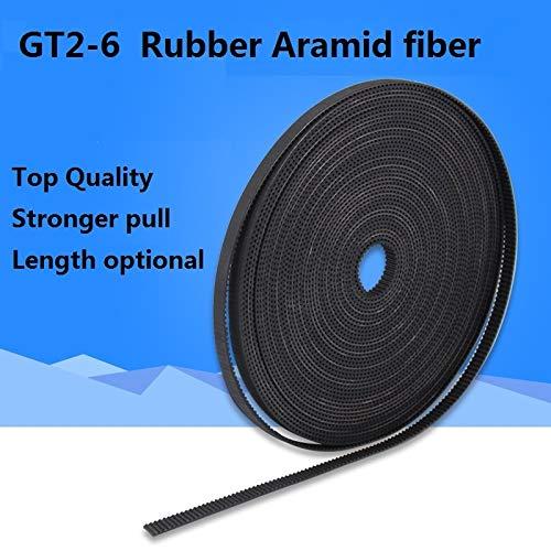 - GIMAX 5m/10m//20m/50m/lot GT2-6mm Open Timing Belt Width 6mm GT2 Belt Rubber Aramid Fiber Cut to Length for 3D Printer Wholesale - (Size: 10Meters)