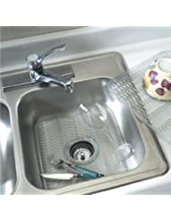 """Rubbermaid - Sink Protector with built-in Microban antimicrobial. Dimensions:12.48""""x11.48""""x.39"""" (Baby Blue / Clear)"""