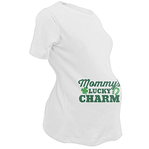 5780e7bf910d4 Amazon.com: St. Patricks Day - Mommy's Lucky Charm Maternity Shirt ...