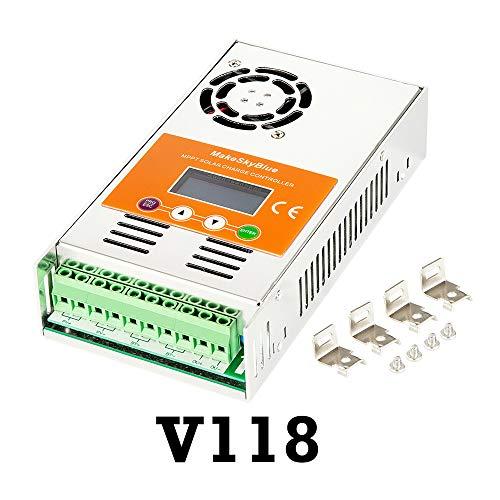 MakeSkyBlue MPPT Solar Controller 60 Amp for 12V 24V 36V 48V Acid Gel Sealed Flooded Lithium Charging System with LCD Display Energy Controller (60A,Version V118,FBA Ship)