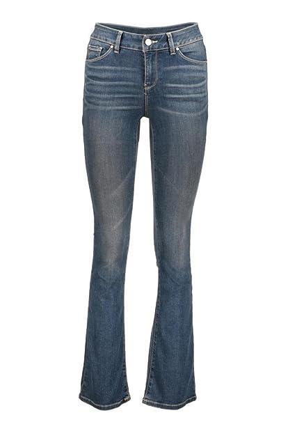 jeans acampanados cintura media